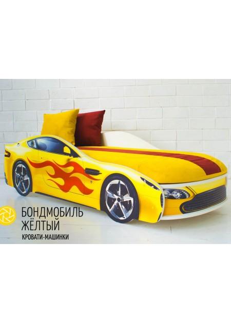 """Кровать машина """"БОНДМОБИЛЬ ЖЕЛТЫЙ"""""""