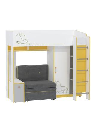 """Кровать """"Альфа 11.20 c диванным блоком"""""""
