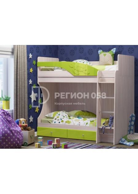 """Кровать двухъярусная """"Бемби МДФ"""""""