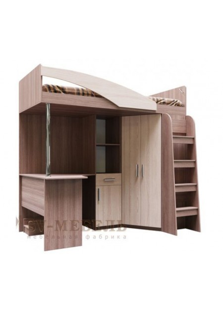 Кровать двухъярусная (комбинированная) «Город»