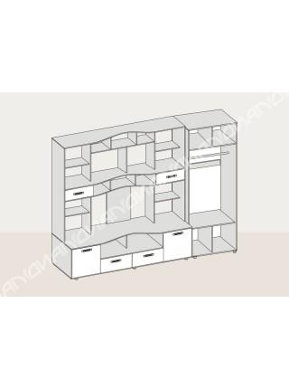 """Гостиная стенка """"Аллегро 4 шкаф"""""""