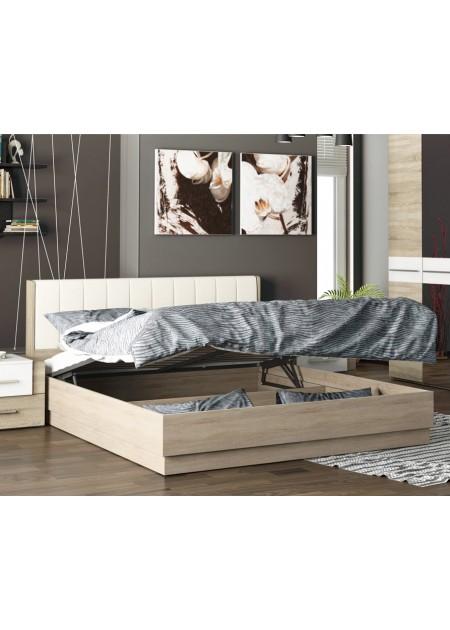 Двуспальная подъемная кровать с мягкой спинкой «Ларго»