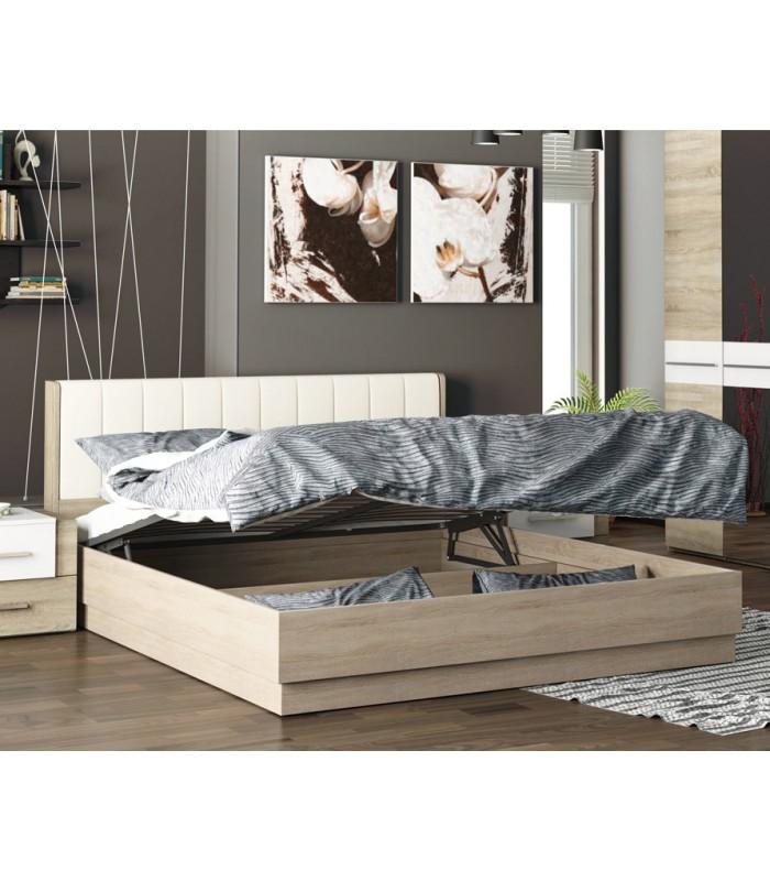 Купить Двуспальная подъемная кровать с мягкой спинкой «Ларго» , цена в Камышине
