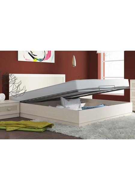 Двуспальная кровать с подъемным механизмом «Сакура»