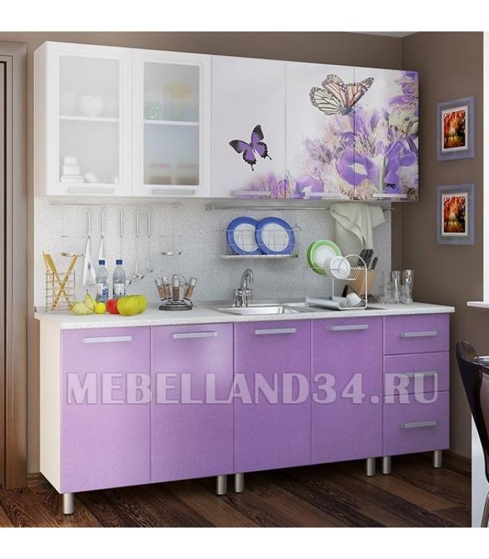 Кухоный гарнитур 2.0 м. Люкс Ирис  мдф
