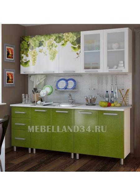 Кухоный гарнитур 2.0 м. Люкс Лоза мдф
