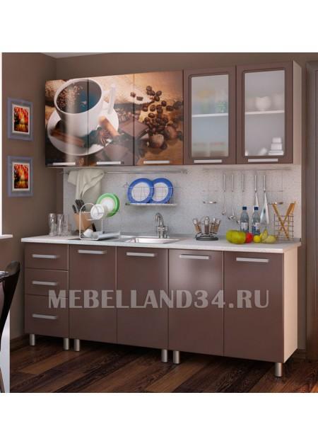 Кухоный гарнитур 2.0 м. Люкс Шоколад мдф