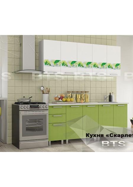 Кухонный гарнитур  «Скарлетт Мята/Белый»