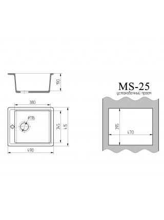 """Мойка """"Ms 25"""""""