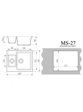 """Мойка """"Ms 27"""