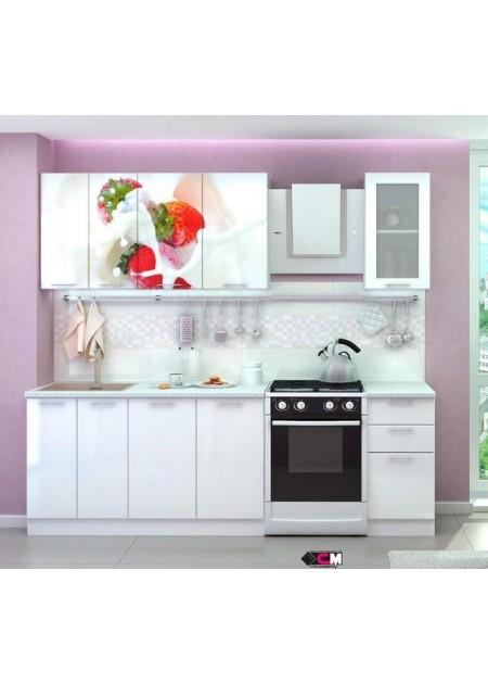 Кухонный гарнитур «Клубника со сливками»