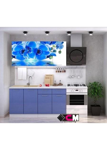 Кухонный гарнитур «Голубая орхидея»