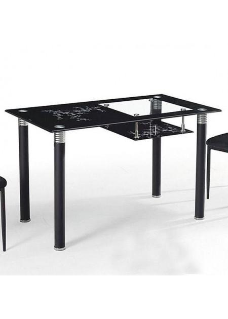 Обеденный стол «A-32» стекло черный