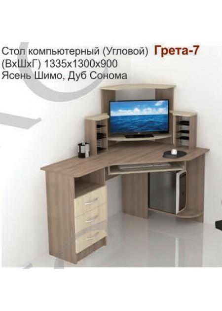 Компьютерный стол «Грета №7» ясень шимо / дуб сонома