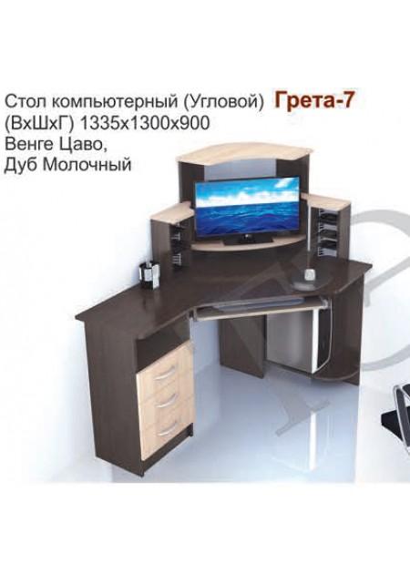 Компьютерный стол «Грета №7» венге / дуб молочный