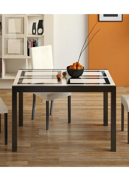 Стол кухонный раскладной со стеклом «Диез Т4» С-345