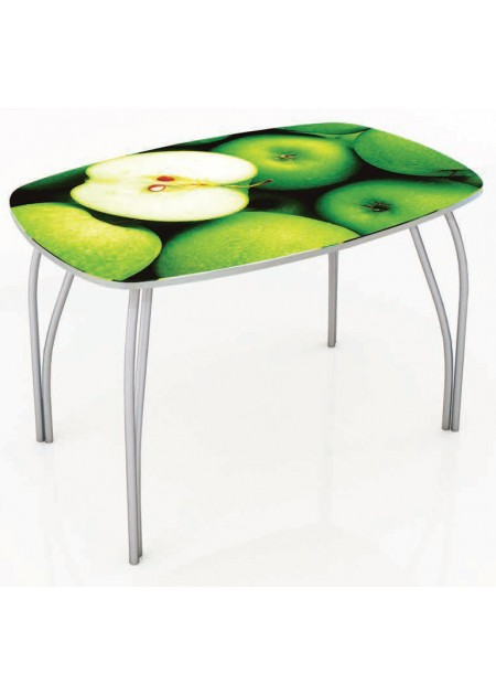 Обеденный стол «Кармен»  стекло  венге / яблоки