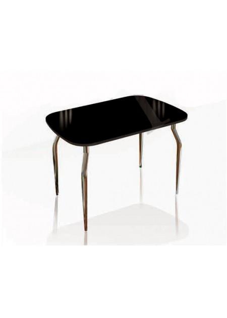 Обеденный стол «Кармен»  стекло лакобель черный / венге
