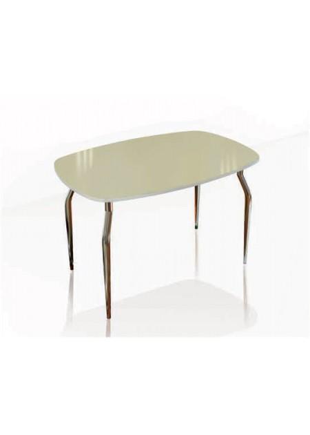 Обеденный стол «Кармен»  стекло лакобель ваниль / венге