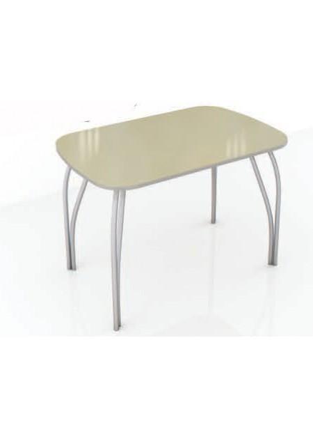 Обеденный стол «Лотос»  стекло лакобель ваниль / венге
