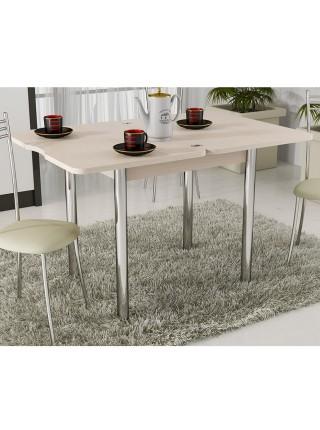 Стол обеденный с хромированными ножками «Лион» Дуб Белфорт