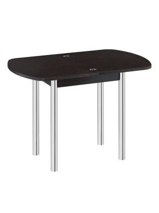 Стол обеденный с хромированными ножками «Лион мини» Венге