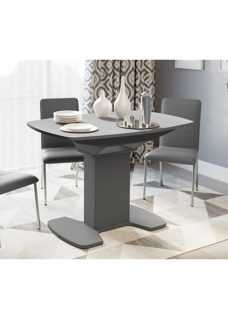 Стол обеденный «Портофино» (Серое/Стекло серое матовое LUX)