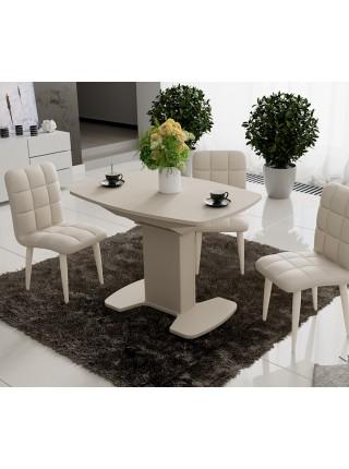 Стол обеденный «Портофино» (Бежевое/Стекло бежевое матовое LUX)